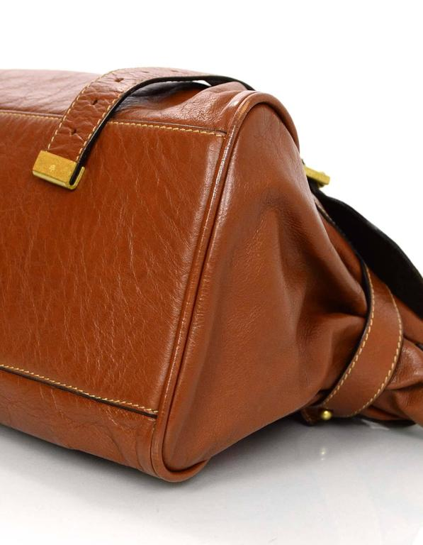 Mulberry Tan Leather Medium Alexa Satchel Bag  In Excellent Condition For Sale In New York, NY