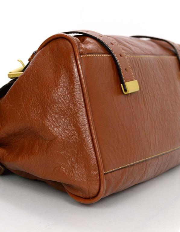 Women's Mulberry Tan Leather Medium Alexa Satchel Bag  For Sale