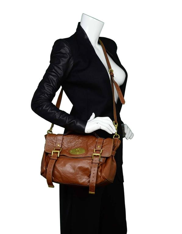 Mulberry Tan Leather Medium Alexa Satchel Bag  For Sale 5