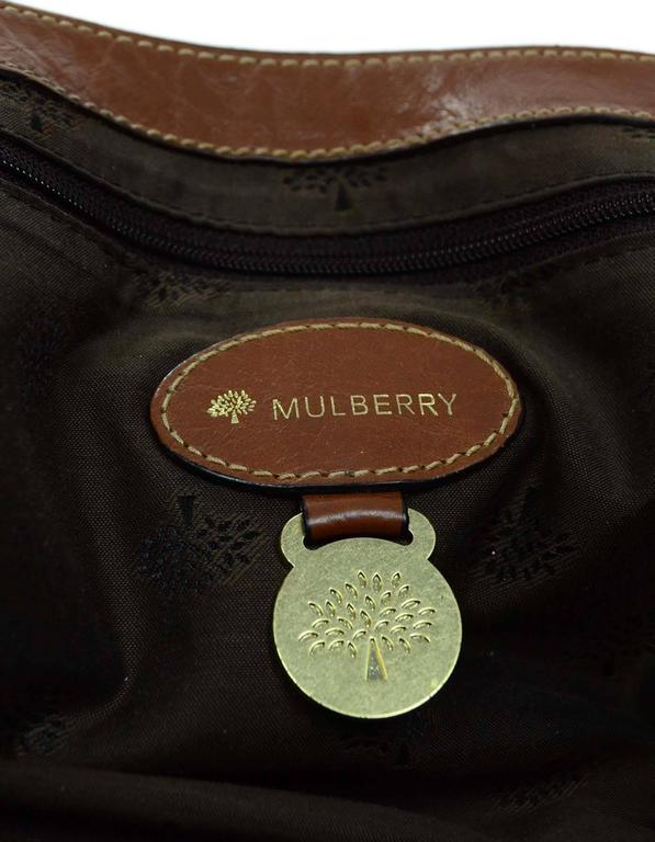Mulberry Tan Leather Medium Alexa Satchel Bag  For Sale 3