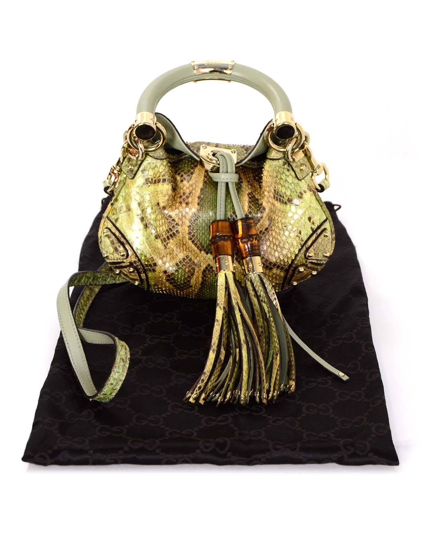 1f1416a8cc1b Gucci Python Mini Indy Crossbody Bag w  Tassels rt.  2