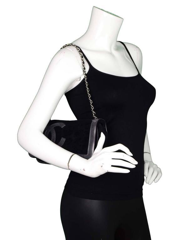 Chanel Sport Black Terrycloth CC Pochette Bag