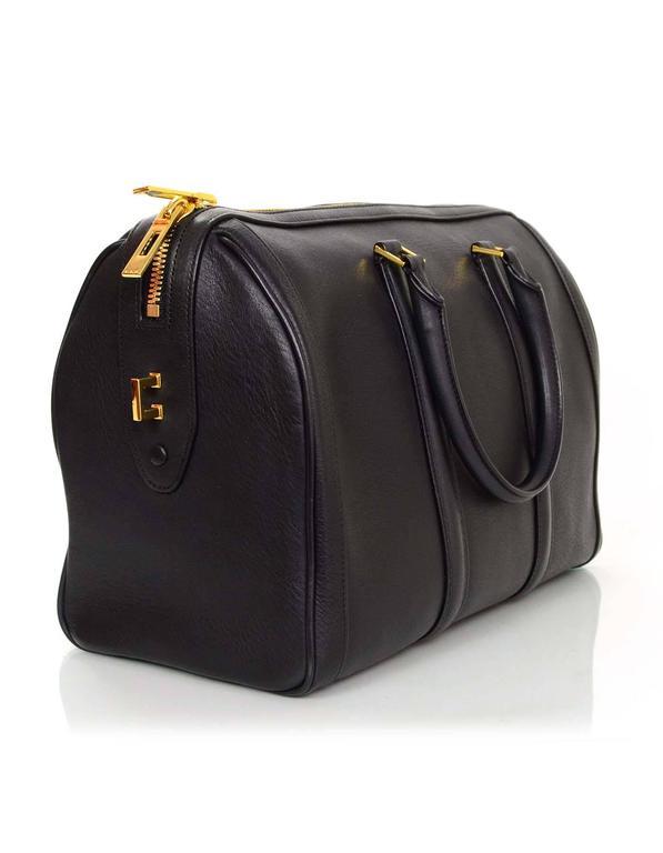 f9b22a9b89 A.L.C. Black Leather Bowler Bag Made In  China Color  Black Hardware   Goldtone Materials