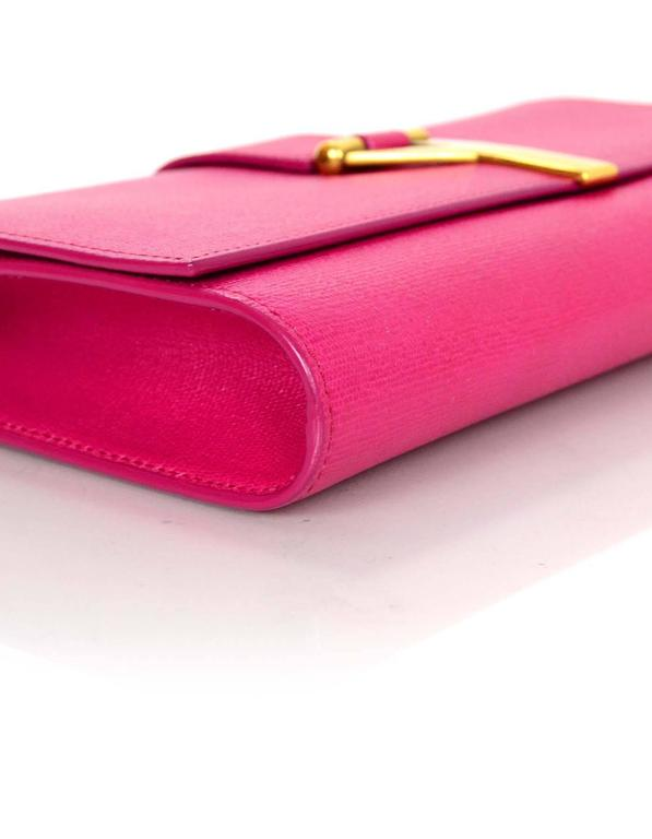 Yves Saint Laurent Pink Classic Cabas Chyc Clutch Bag For
