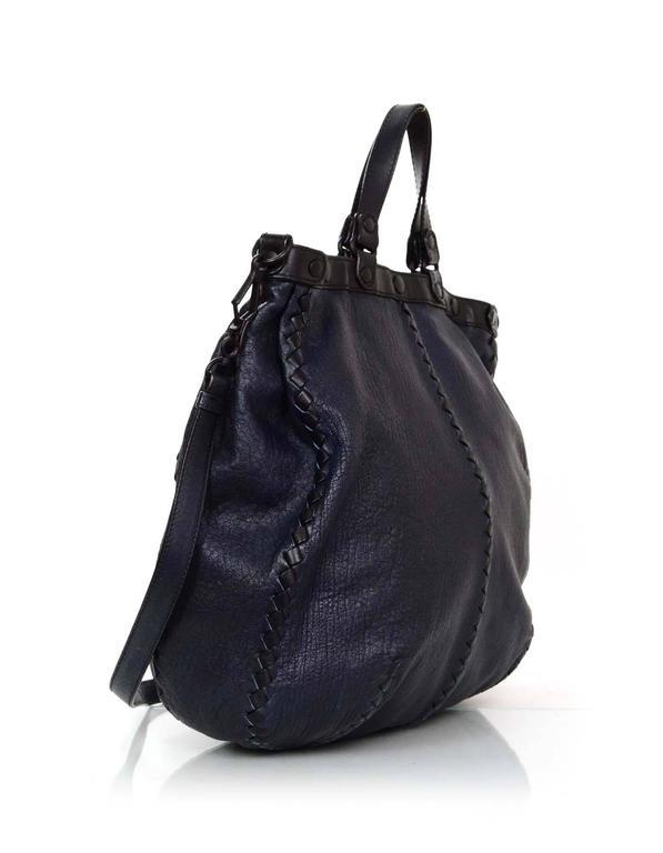Bottega Veneta Men S Navy And Black Crossbody Tote Bag For Sale At