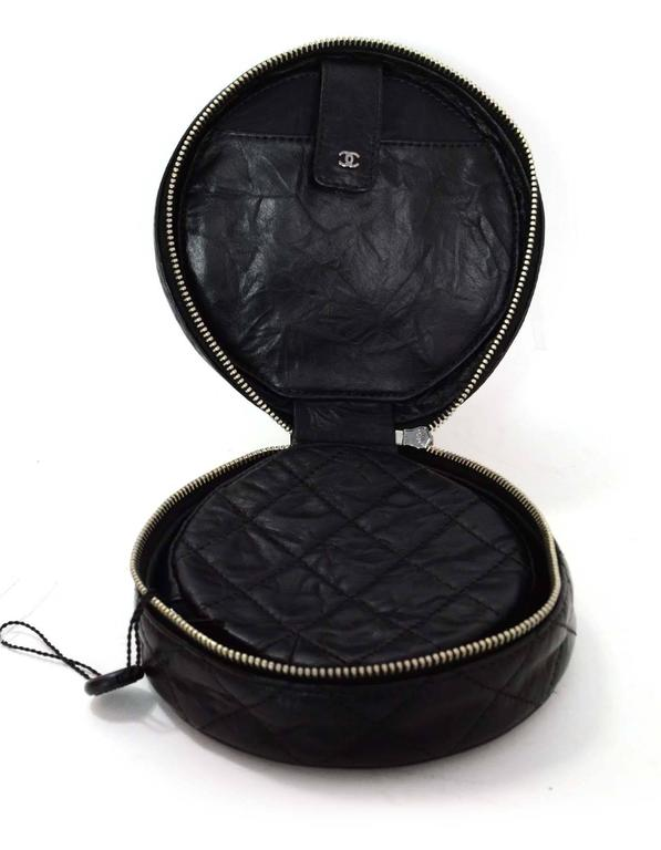 Women's Chanel Black Distressed Leather Jewelry Case For Sale