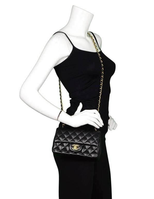e39879d042e2 Chanel Black Lambskin Mini Flap Bag with GHW Made in: Italy Year of  Production: