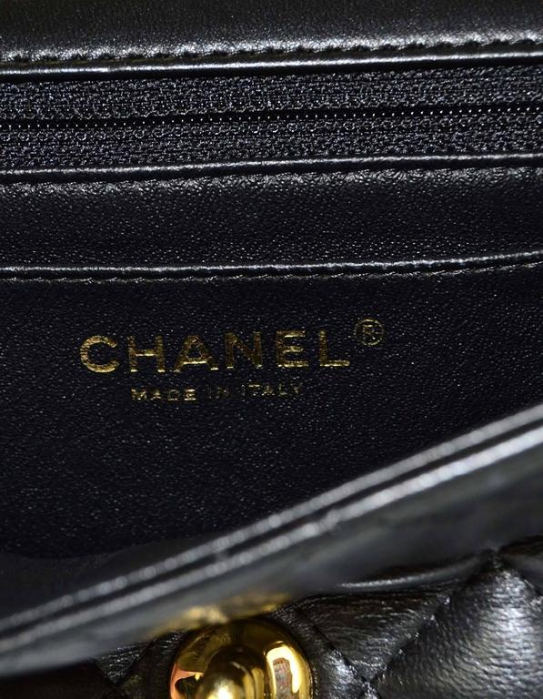 147788eb41ad Chanel 2015 Black Lambskin Rectangular Mini Flap Bag with GHW For Sale 4