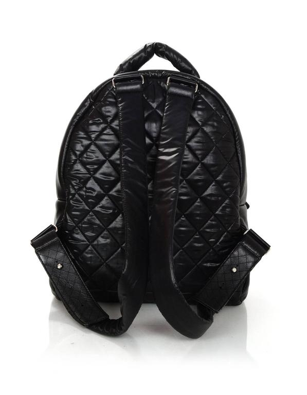 e7236243e755b2 ... Excellent Condition For Sale In New York. Women's or Men's Chanel 2016  Black Nylon Coco Cocoon Backpack Bag For Sale