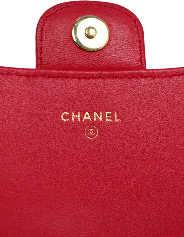 c315ade30930c Chanel Red Quilted Lambskin Wallet with Detachable Chain Bag  Clutch For  Sale 4