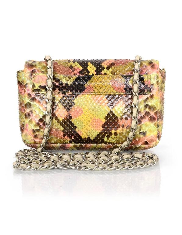 Chanel Pink and Brown Snakeskin Mini Crossbody Flap Bag 4