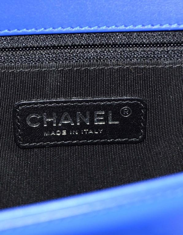 Chanel Blue Patent Leather & Plexi Glass New Medium Boy Bag 8