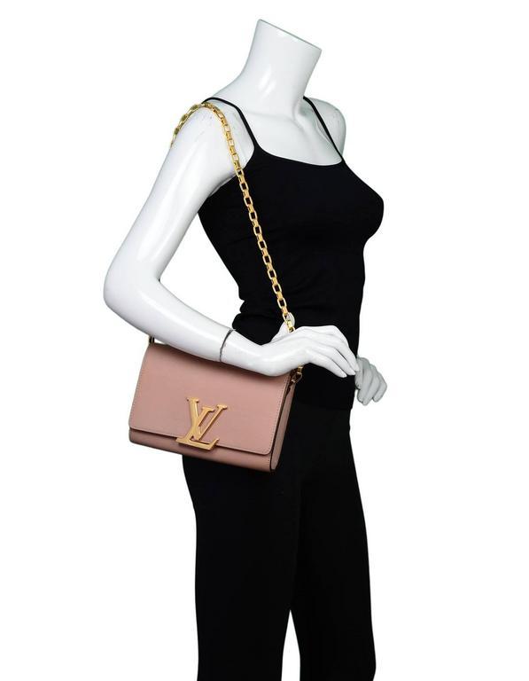 Louis Vuitton Beige Leather Chain Louise Gm Bag For Sale