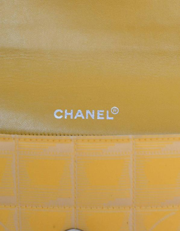 Chanel Yellow Canvas Chocolate Bar Quiltes East West Shoulder Bag For Sale 4