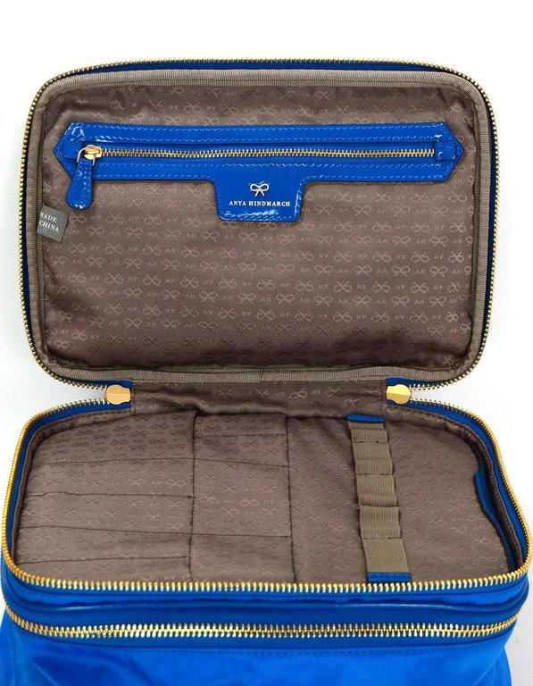 Anya Hindmarch 2016 Cobalt Blue Nylon Vanity Kit rt. 425 ...
