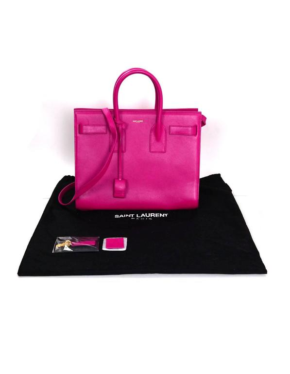 Saint Laurent Pink Small Sac De Jour Tote Bag w/ Strap 10