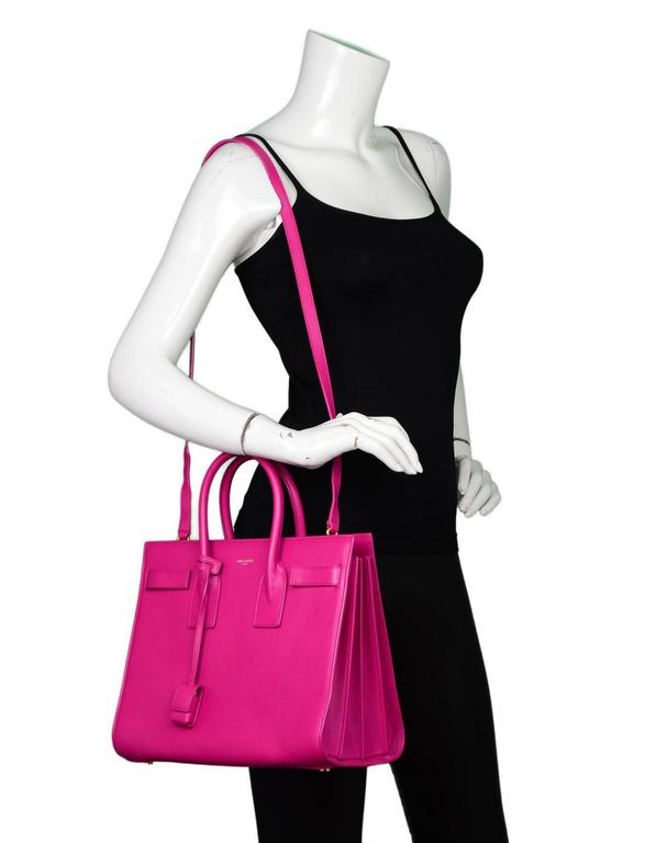 Saint Laurent Pink Small Sac De Jour Tote Bag w/ Strap 2