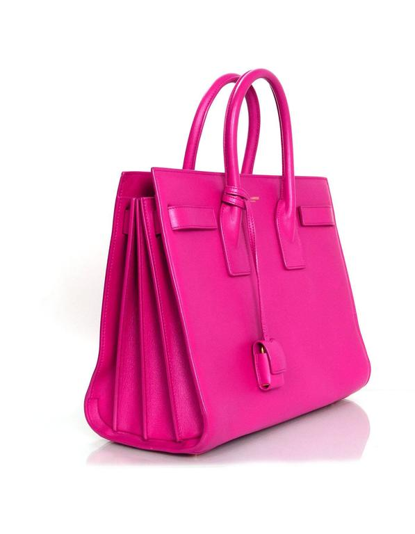 Saint Laurent Pink Small Sac De Jour Tote Bag w/ Strap 3