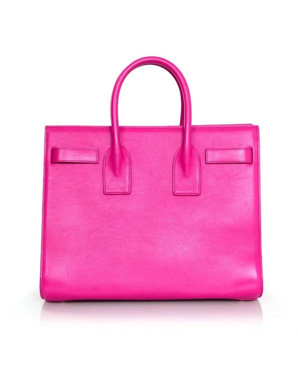 Saint Laurent Pink Small Sac De Jour Tote Bag w/ Strap 4