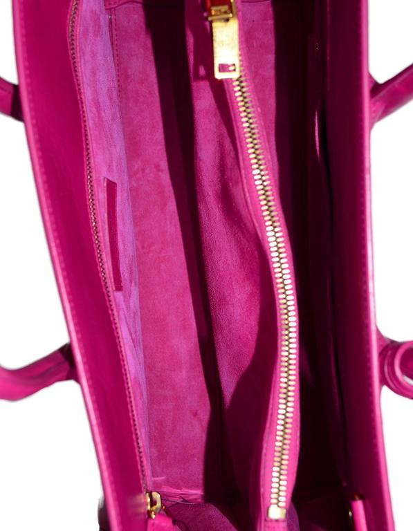 Saint Laurent Pink Small Sac De Jour Tote Bag w/ Strap 7