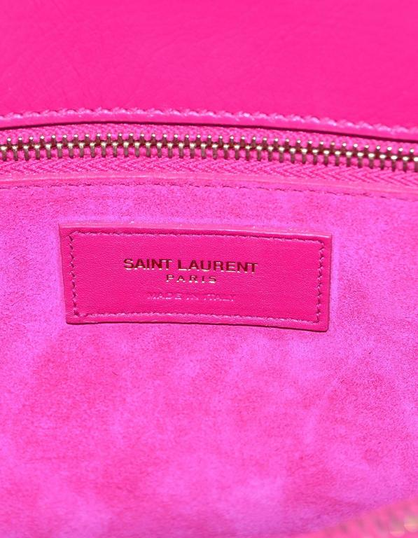 Saint Laurent Pink Small Sac De Jour Tote Bag w/ Strap 8