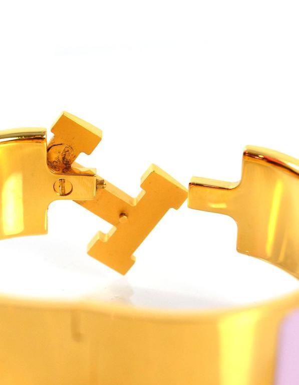 hermes pink enamel wide clic clac pm bracelet for sale at. Black Bedroom Furniture Sets. Home Design Ideas