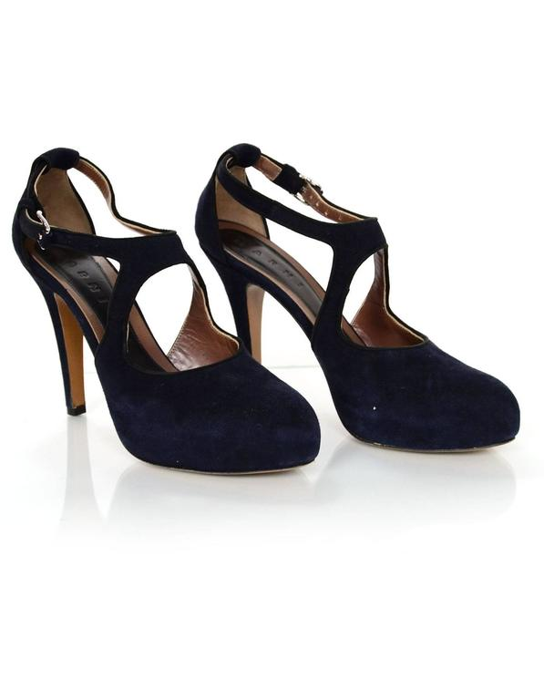 Marni Navy Suede Platform Pumps Sz 38 For Sale At 1stdibs