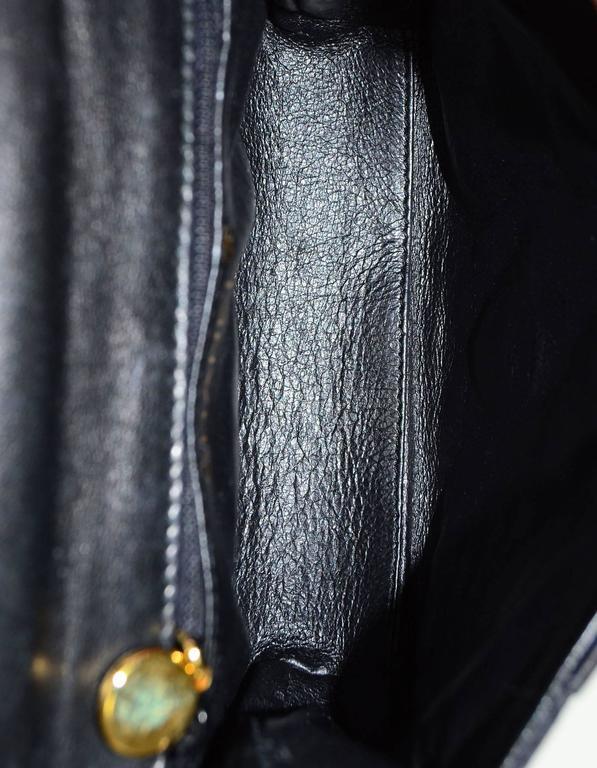 Chanel Vintage Black Satin Bow Crossbody Bag 7