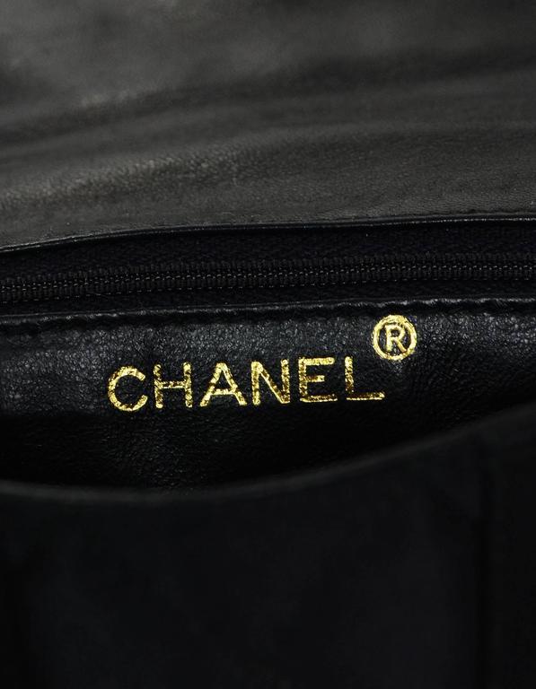 Chanel Vintage Black Satin Bow Crossbody Bag 8