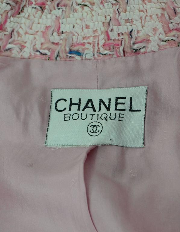 Women's Chanel Pink Fantasy Tweed Jacket For Sale