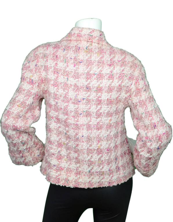 Chanel Pink Fantasy Tweed Jacket In Excellent Condition For Sale In New York, NY