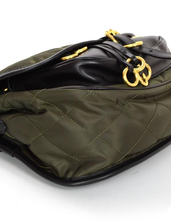 b878bdc4ebf Prada 2016 Army Green Nylon & Leather Quilted Corsaire Messenger Crossbody  Bag In Excellent Condition For
