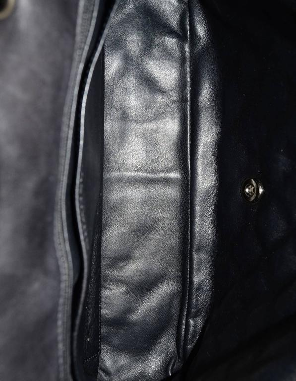 Chanel Black Quilted Patent Single Flap Jumbo Classic Flap Bag 5