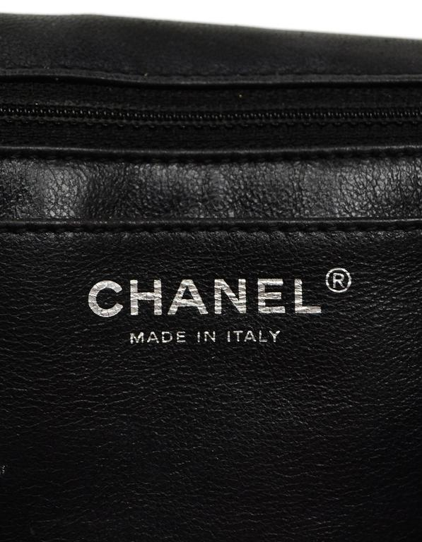 Chanel Black Quilted Patent Single Flap Jumbo Classic Flap Bag 6