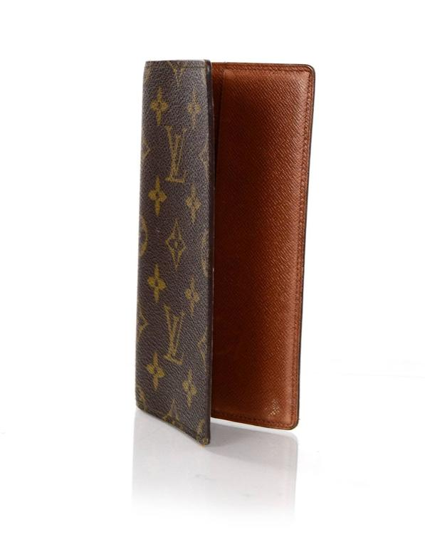 3fe435e06845 Louis Vuitton Monogram Pocket Agenda Cover Checkbook Cover Made In  Italy  Year of Production