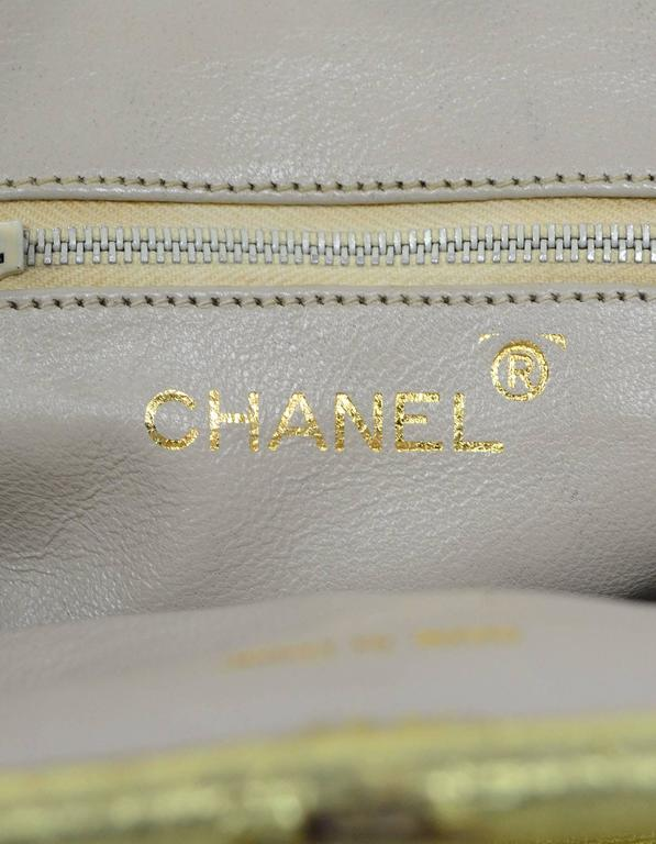 Chanel Metallic Gold Leather Mini Evening Bag GHW For Sale 5