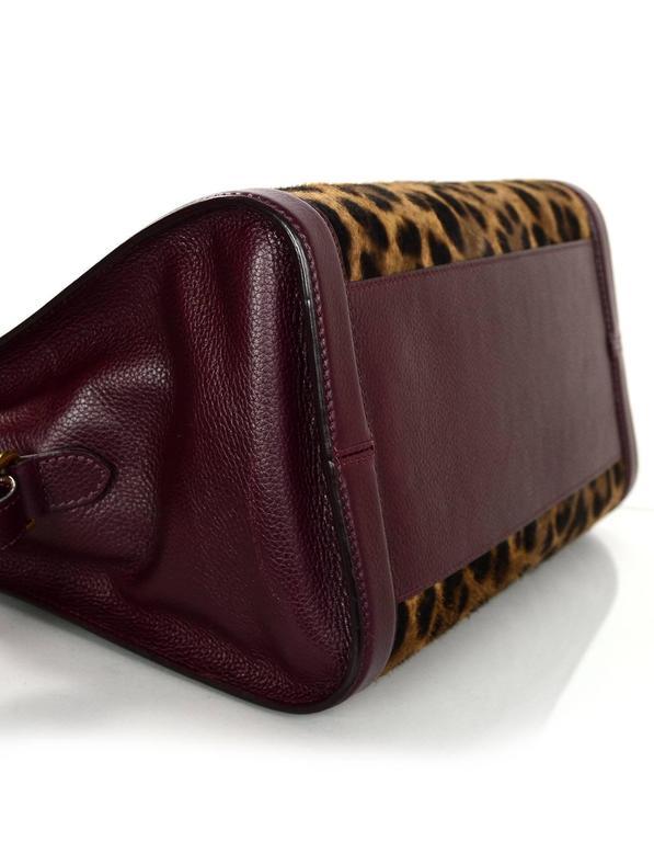 Alexander Mcqueen Leopard Print Ponyhair Lock Satchel Bag