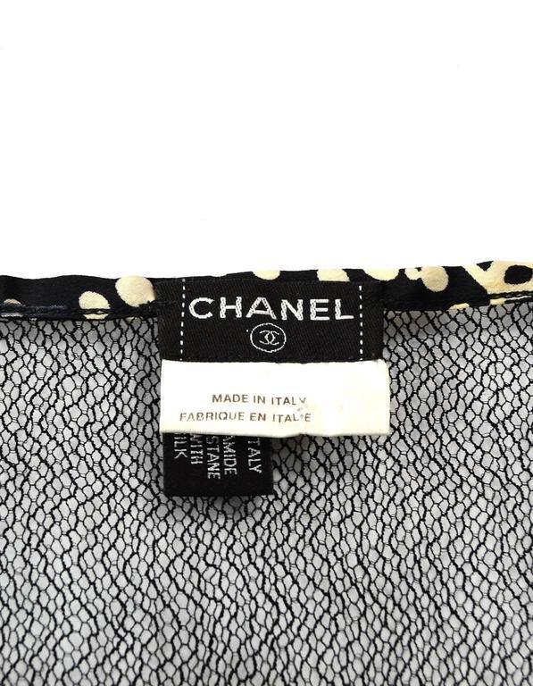 Chanel Black Mesh Spaghetti Strap Camisole Insert sz 42 For Sale 1
