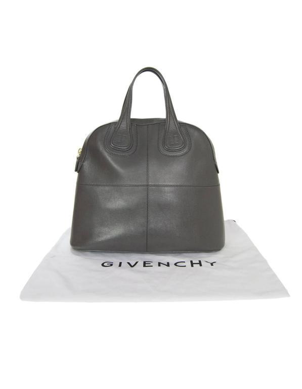 Givenchy Elephant Grey Calfskin Medium Palma Nightingale Bag w DB For Sale 5 bb940dbd35970