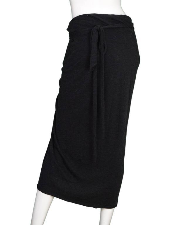 Black Rick Owens NEW Grey Draped Front Skirt sz US10 rt. $470