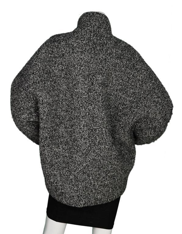 Black Isabel Marant Grey Boucle Dolman Sleeve Jacket sz FR38