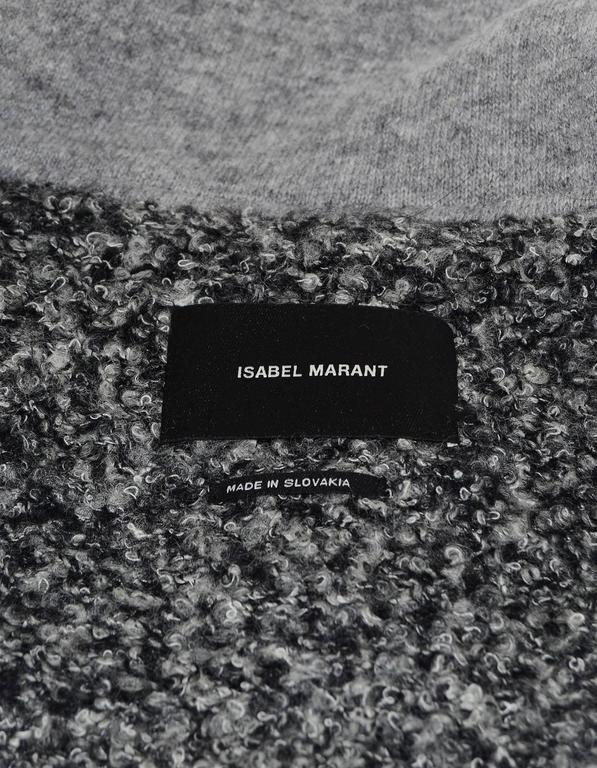 Isabel Marant Grey Boucle Dolman Sleeve Jacket sz FR38 In Excellent Condition In New York, NY