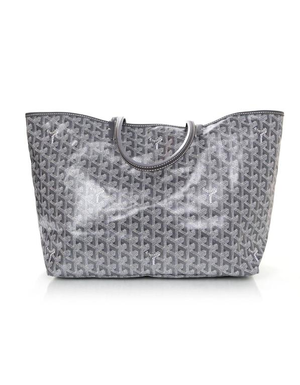 Goyard Grey Chevron St. Louis PM Tote With Pouchette In New Condition In New York, NY