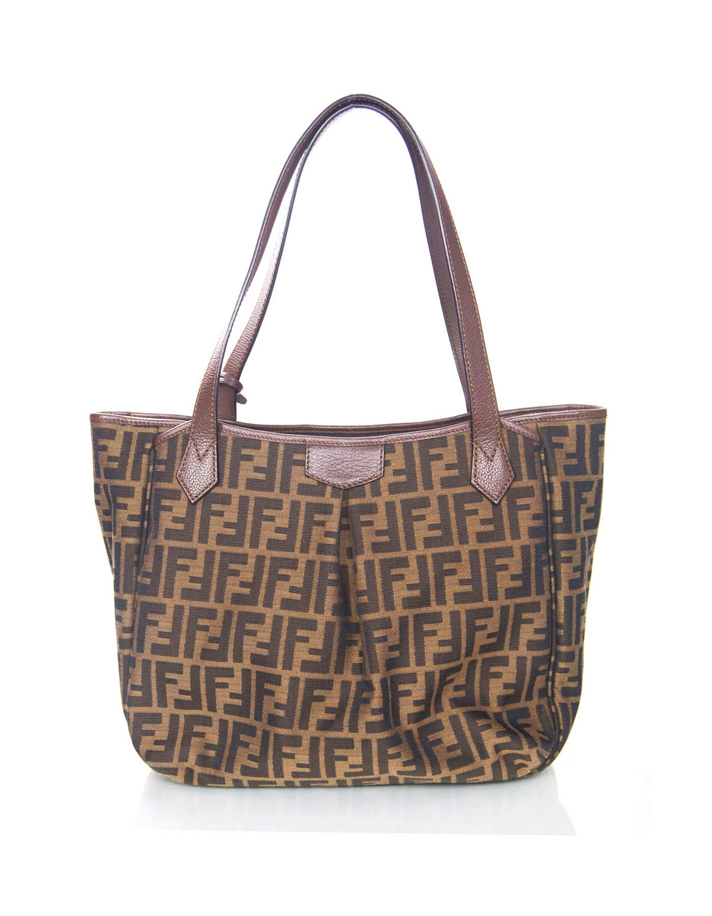 b513f01caf Fendi Canvas Zucca Print Tote Bag With Clochette And Dust Bag For Sale at  1stdibs