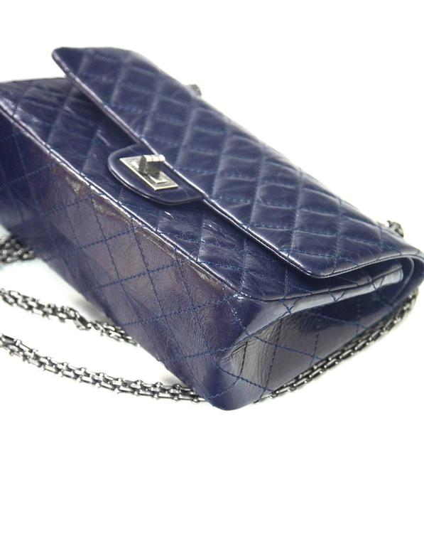 bd6daccec1b9 Chanel Navy Blue Patent Leather 2.55 225 Reissue Double Flap Classic Bag  For Sale 2