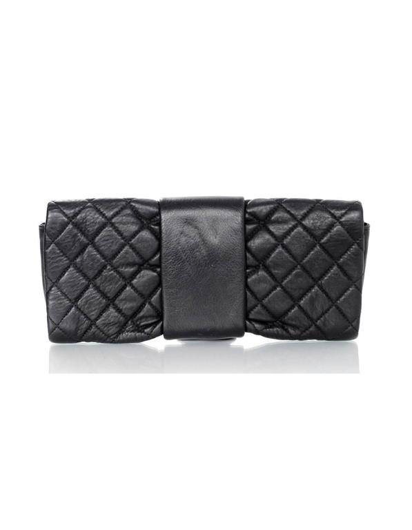 Women's Chanel Black Quilted Leather 2.55 Reissue Clutch Bag For Sale