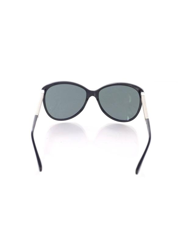 d0fba48519bea Chanel Black Cat Eye Sunglasses With Quilting In Good Condition For Sale In  New York