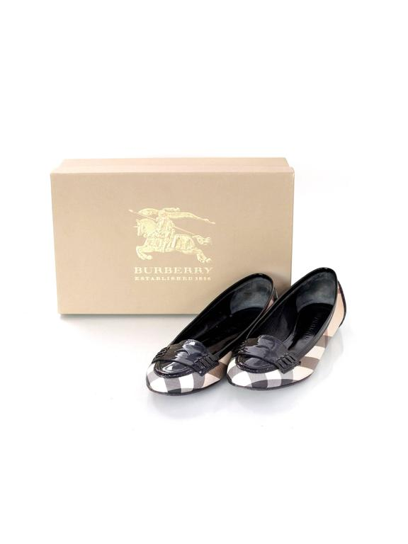 Burberry Nova Plaid Ballet Loafer Shoes Sz 37 8