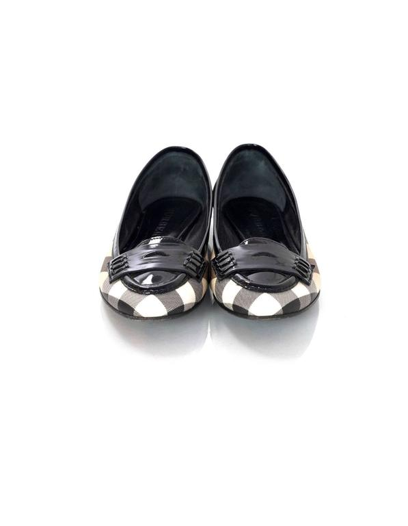 Burberry Nova Plaid Ballet Loafer Shoes Sz 37 4