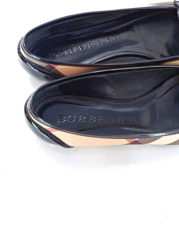 Burberry Nova Plaid Ballet Loafer Shoes Sz 37 7
